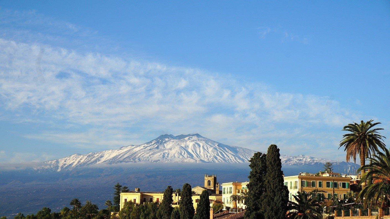 Spettacolare vista del vulcano Etna